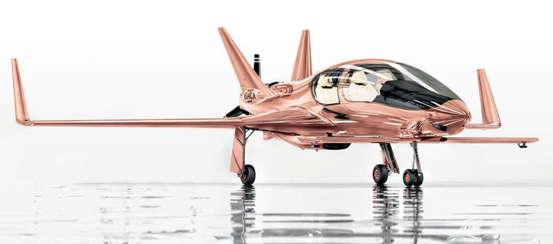 Illustration for article titled Neiman Marcus Wants You to Put a $1.5 Million Rose Gold Private Plane On Your Christmas List