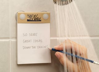 Illustration for article titled Aqua Notes: For People Who Get Their Best Ideas In The Shower