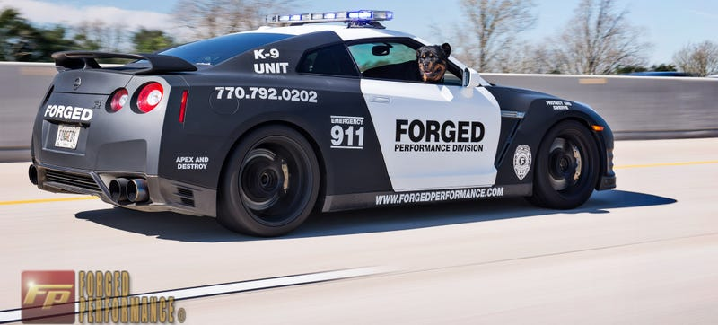 A Nissan GT-R Police Car Is What Speed Demon Nightmares Are Made Of