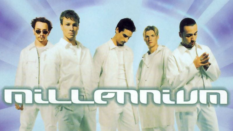 Illustration for article titled Backstreet Boys' Millennium was the opening shot of the early-'00s boy-band sales war