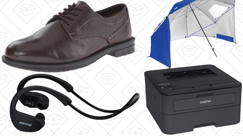 Illustration for article titled Today's Best Deals: $40 Dress Shoes, Beach Umbrella, Brother Laser Printer, and More