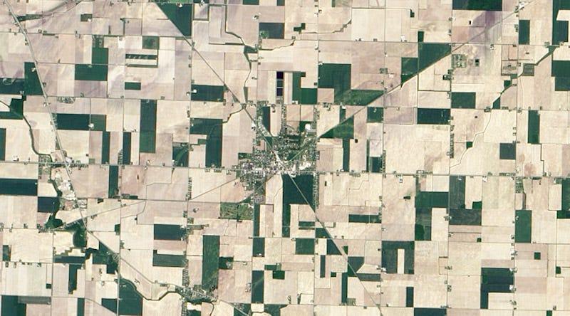 Farms seen via satellite / NASA Earth Observatory
