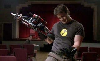 Illustration for article titled Rainn Wilson's Super Gets A Bona Fide Superhero: Nathan Fillion!
