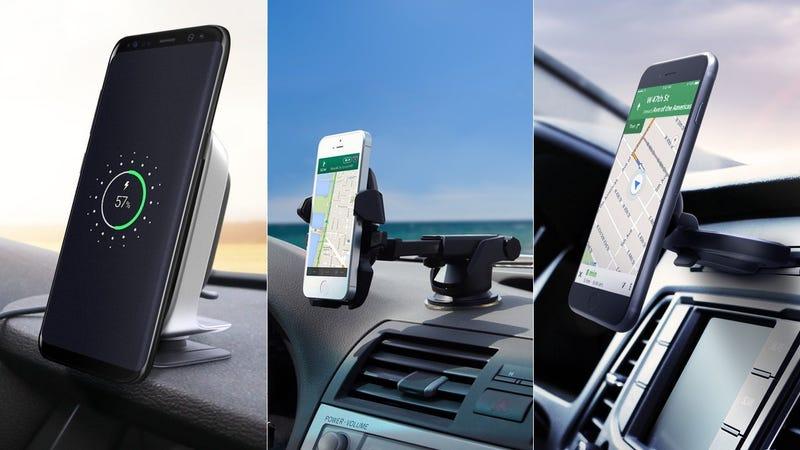 iOttie iTap Wireless Qi Charger | $49 | AmazoniOttie Easy One Touch 2 | $13 | AmazoniOttie iTap CD Slot Magnetic Mount | $17 | AmazoniOttie iTap Air Vent Magnetic Mount | $14 | Amazon