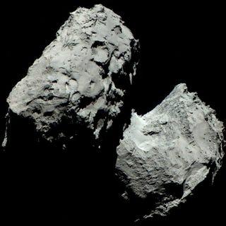 Illustration for article titled No era rojizo: La ESA muestra el cometa 67P en su primera foto a color