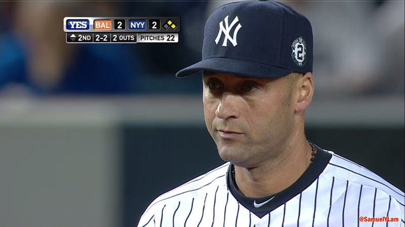 Illustration for article titled That Derek Jeter Screencap, With Every Number Being Two, Is Fake