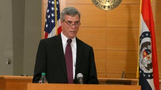 St. Louis County Prosecuting Attorney Robert McCulloch announces the grand jury's decision not to indict Ferguson, Mo., police Officer Darren Wilson in the shooting death of Michael Brown on Nov. 24, 2014, at the Buzz Westfall Justice Center in Clayton, Mo.Cristina Fletes-Boutte-Pool/Getty Images