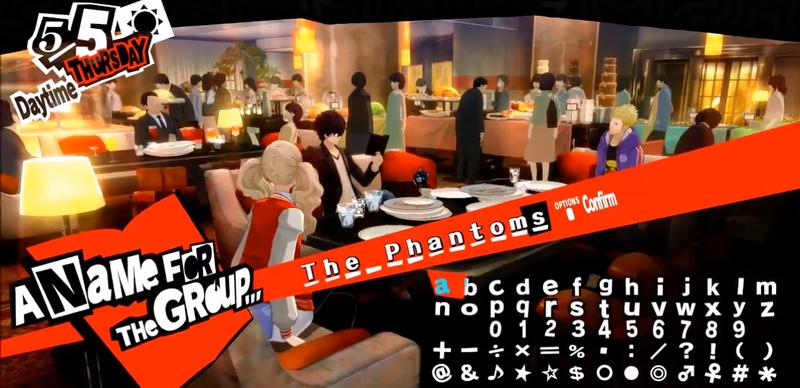Persona 5 Jugadores Se Están Divirtiendo Con Los Nombres De Los Equipos