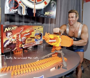 Illustration for article titled Battle at Chinese Nerf Factory Does Not, Sadly, Involve Nerf Weaponry