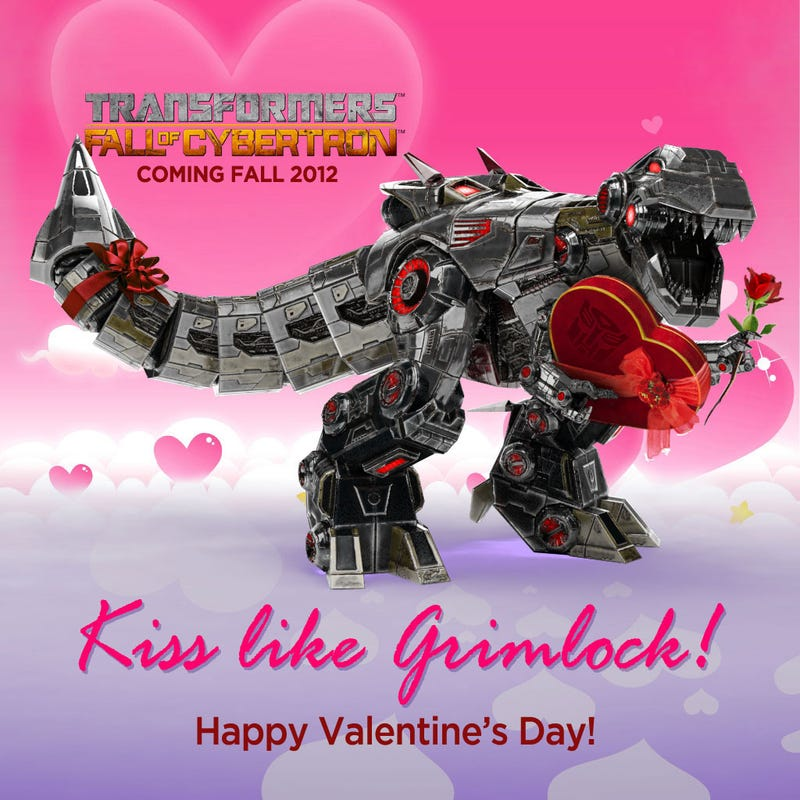 Illustration for article titled Either You Give Grimlock Your Heart or He Takes It