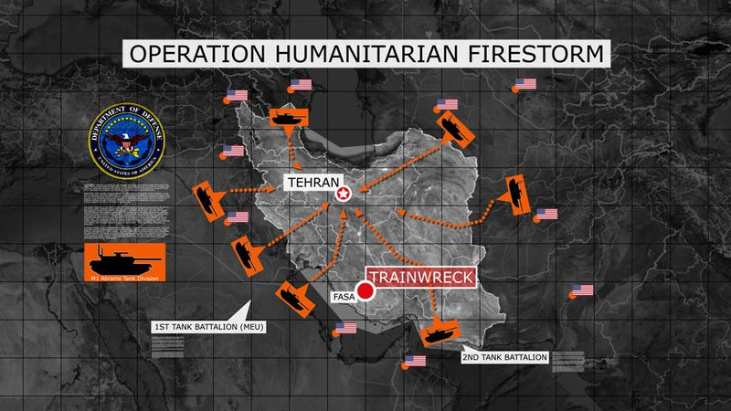Illustration for article titled Plan For Operation Humanitarian Firestorm