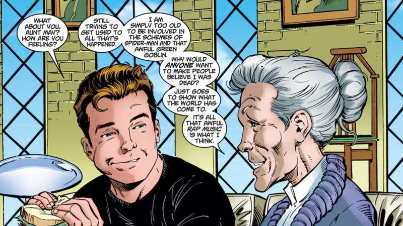 Illustration for article titled Sony is reportedly considering a Spider-Man spinoff about Aunt May, why not