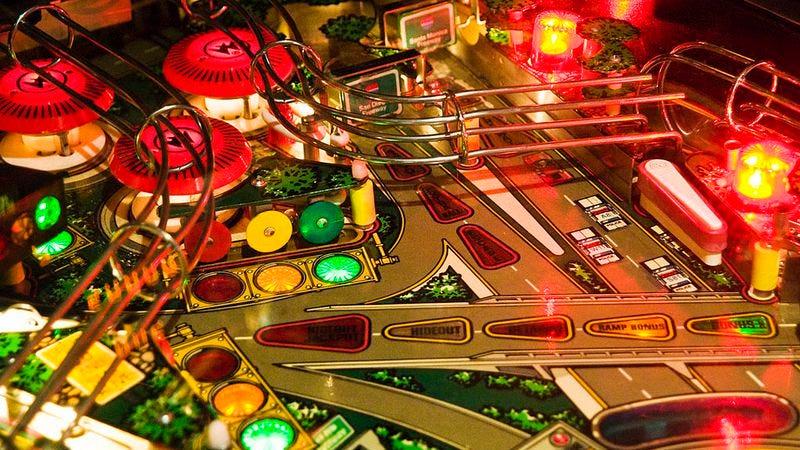 Detail of a pinball machine (Photo: John Greim/LightRocket via Getty Images)