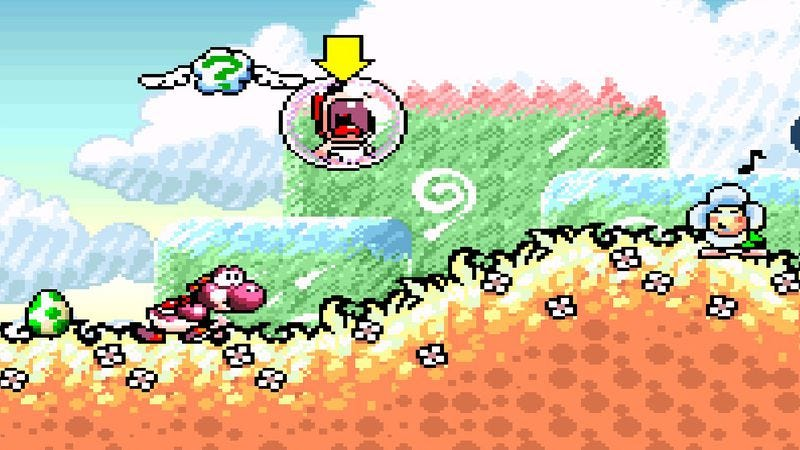 Illustration for article titled Even in his own game, Yoshi was Mario's disposable servant
