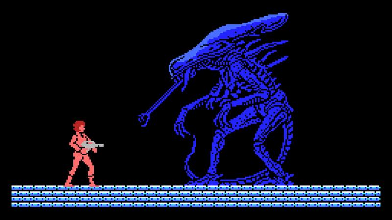 The MSX version of Square's Aliens.