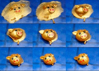 Illustration for article titled Pig Toy Gets Completely Squashed, Raises Like Terminator T1000
