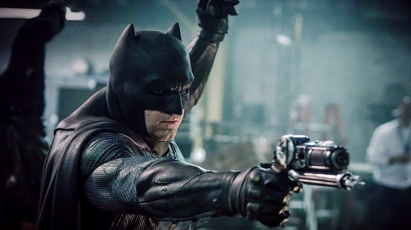 Batfleck points a grapple gun at the rumor mill.