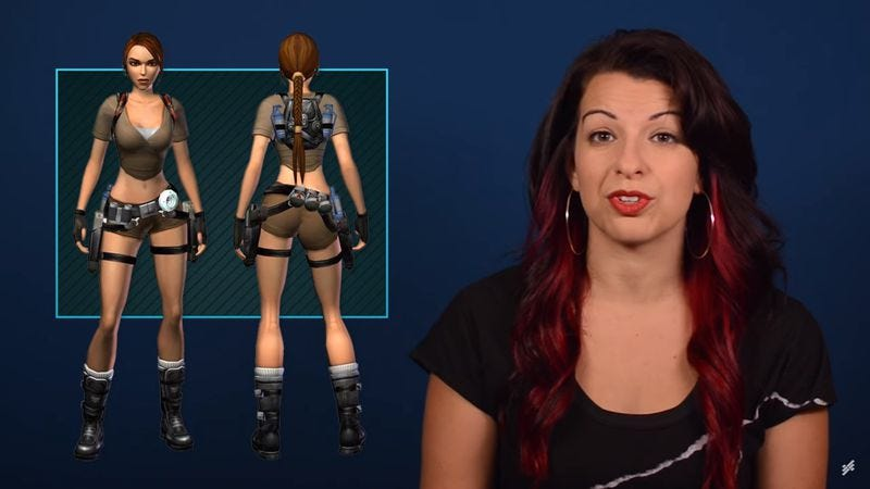 """Illustration for article titled Feminist Frequency takes on """"strategic butt coverings"""" in video games"""