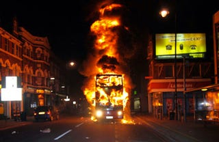 Illustration for article titled This is the scariest photo from the London riots