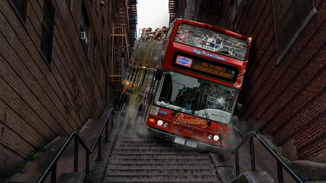 Bus Tour Takes Fans Down Iconic 'Joker' Stairs
