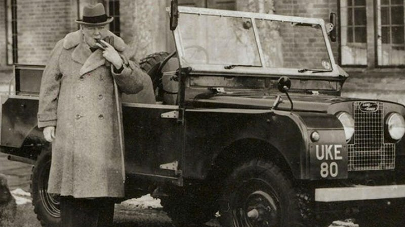 Illustration for article titled Winston Churchill's Land Rover Could Be Yours
