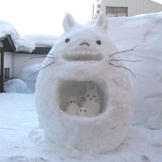 Illustration for article titled Snow Totoro may be cold, but he'll warm your heart