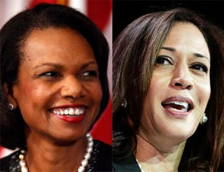 Former Secretary of State Condoleezza Rice; California Attorney General Kamala HarrisGetty Images