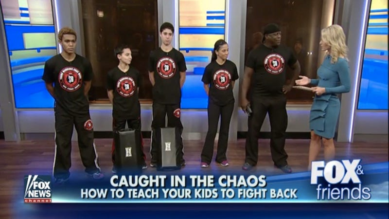 Illustration for article titled Fox & Friends Segment Teaches Children How to Disarm Shooters