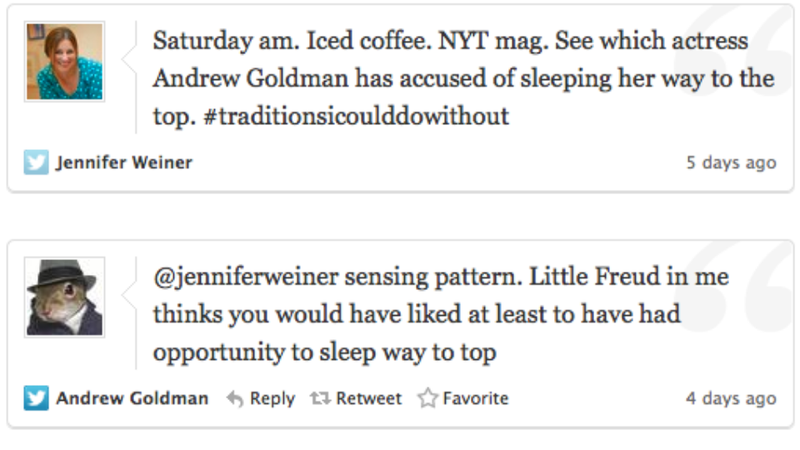 Illustration for article titled New York Times's Andrew Goldman Temporarily Suspended for Sexist Comments