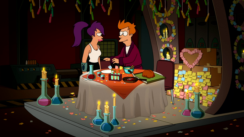 this futurama-style break room dinner is a great, cheap, Ideas
