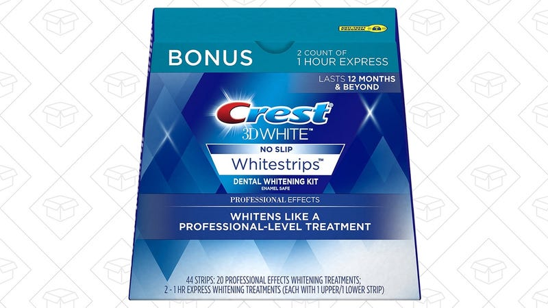 Crest 3D White Whitestrips, 20 Treatments + Two 1 Hour Express Whitening Strips | $39 | Amazon | Clip the $5 copuon