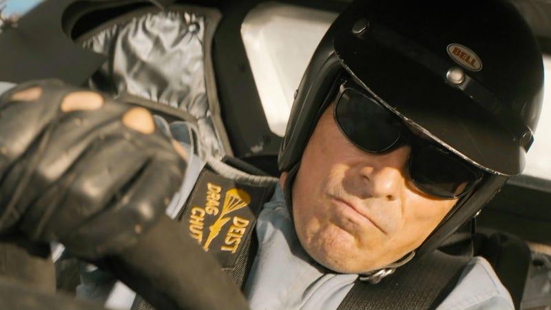 Christian Bale in Ford v Ferrari.