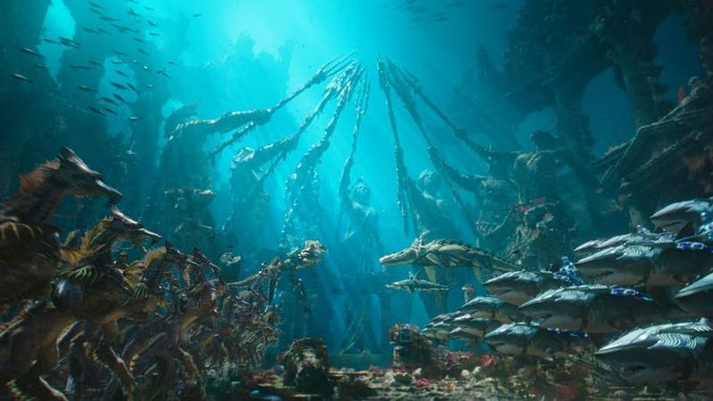 Aquaman's Atlanteans are going to ride seahorses and sharks