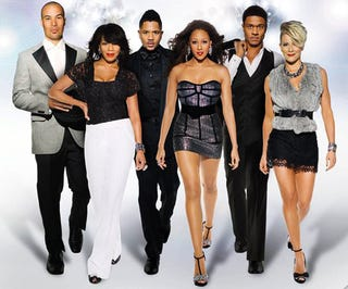 "New BET promo shot of the cast of the TV show ""The Game."""