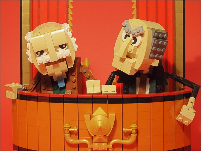 Illustration for article titled Lego Statler and Waldorf will heckle all other builds