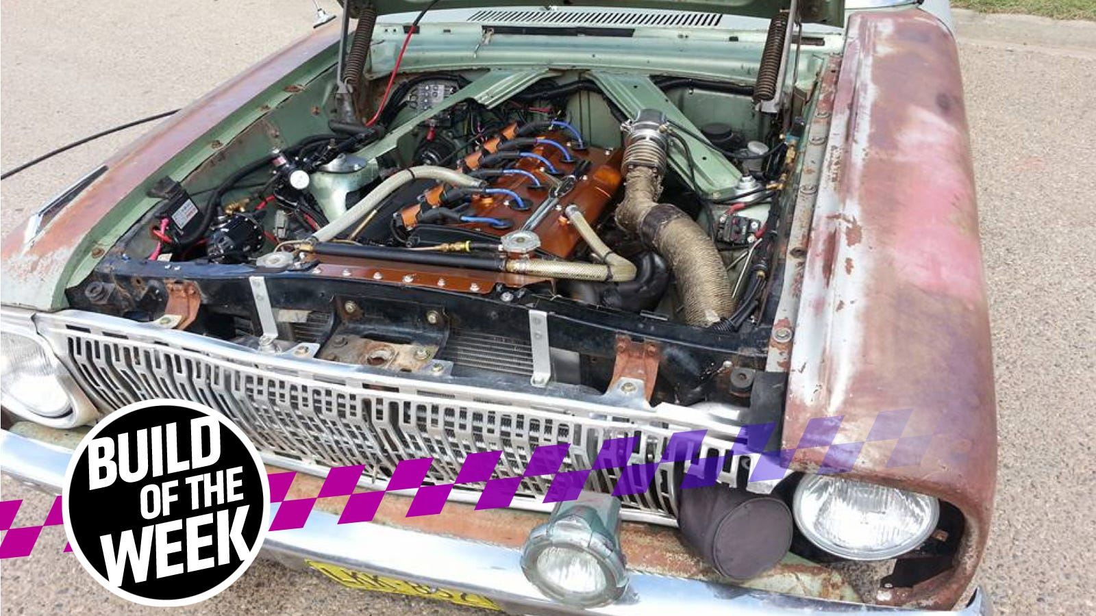 This Guy Built A Skyline Powered Ford Falcon Out Of Spares And Garbage Rb20 Wiring Diagram