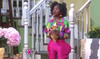 Little girl posing as Nicki Minaj for a parody on The Ellen DeGeneres ShowOct. 12, 2015Video screenshot