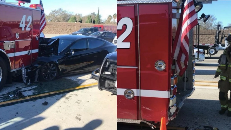 Illustration for article titled Tesla Autopilot Let Driver Keep Hands Off Wheel A Whole Lot In Fire Truck Crash: Feds