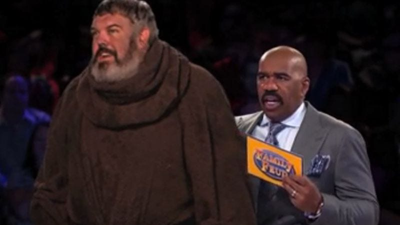 Illustration for article titled Watch Game Of Thrones' Hodor totally Hodor a round of Family Feud