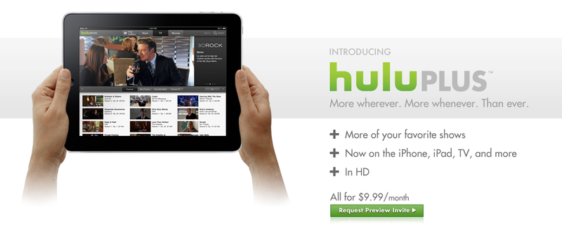 Illustration for article titled Hulu Plus is Real: $10/Month for iPhone, iPad and TV Viewing