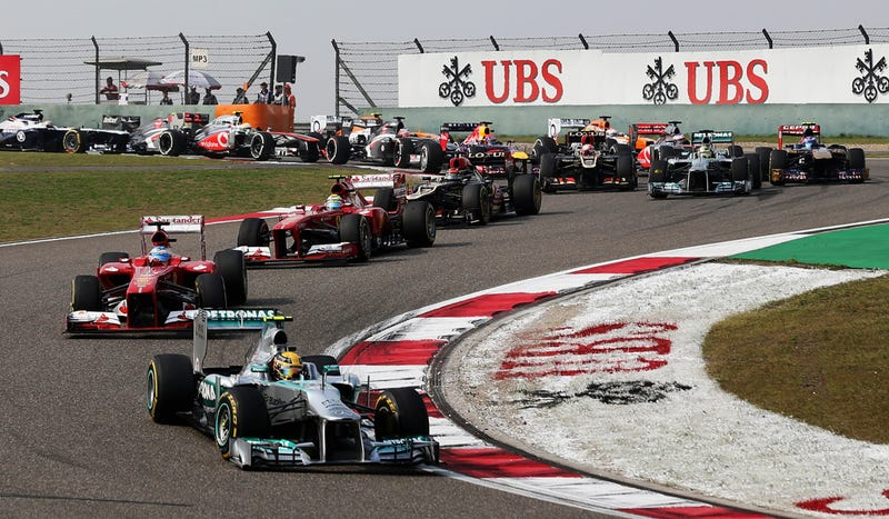 Illustration for article titled Pirelli Tire Insanity Makes For One Hell Of A Chinese Grand Prix