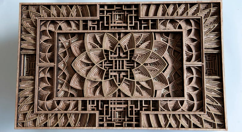 Illustration for article titled Artist Creates Stunning Wooden Sculptures With Laser Cutting Tech