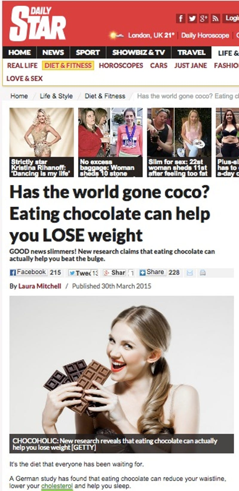 I Fooled Millions Into Thinking Chocolate Helps Weight Loss ...