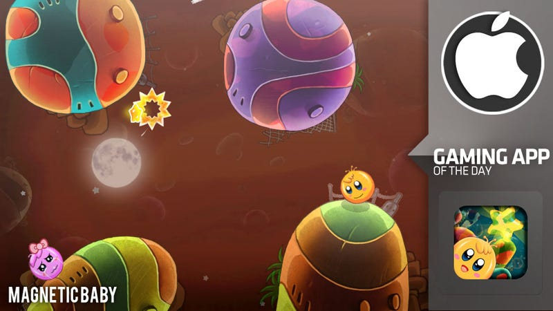 Illustration for article titled Magnetic Baby, An iOS Platformer With Gravitational Pull and A Portal or Two