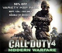 Illustration for article titled COD4 Weekend Brings Double XP, Half-Priced Maps