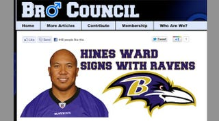 Illustration for article titled Hines Ward Signs With Ravens, Reports Pittsburgh TV Station That Fell For Obvious Parody