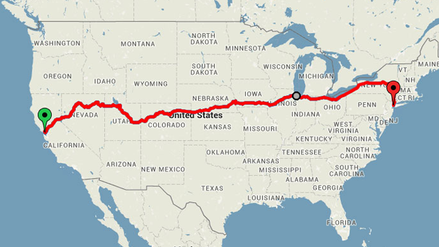 long road trip across america