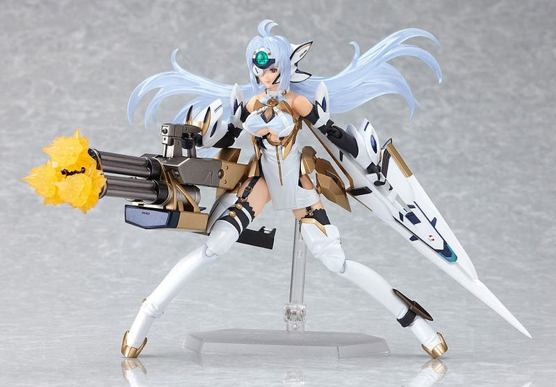 Illustration for article titled Xenosaga Action Figure Comes Out Guns Blazing
