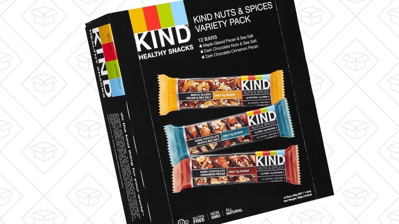 KIND Bars, Nuts and Spices Variety Pack, Gluten Free, 1.4 Ounce Bars, 12 Count | $10 | Amazon | After 15% off coupon