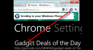 Illustration for article titled Chrome to Windows Phone 7 Pushes Links to Windows Phone 7 from Chrome